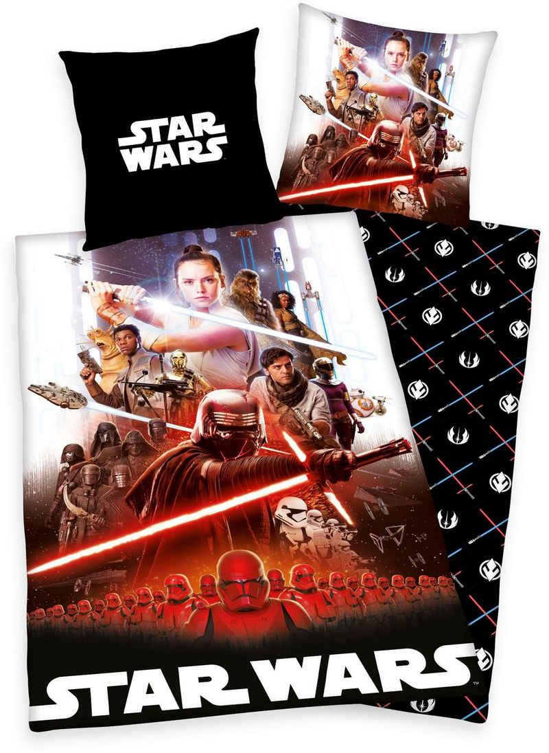 Wendebettwäsche »Star Wars 9«, Star Wars, mit allen Darstellern