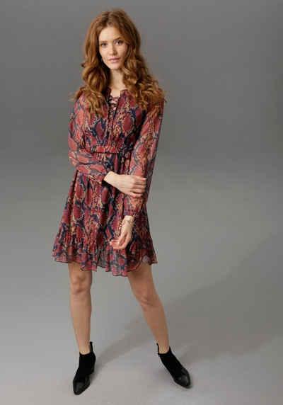 Aniston CASUAL Partykleid im trendigen Schlangenprint