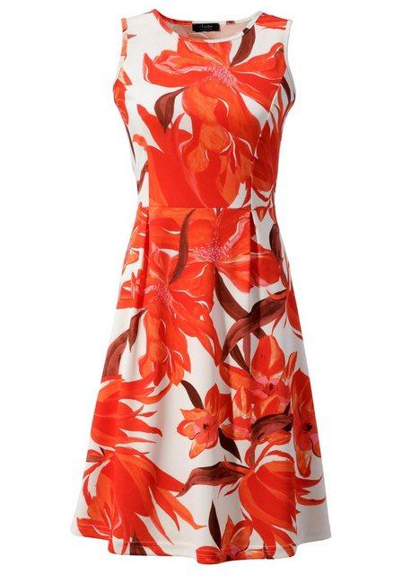 Aniston SELECTED Partykleid im femininen Allover-Print | Bekleidung > Kleider > Partykleider | Aniston SELECTED