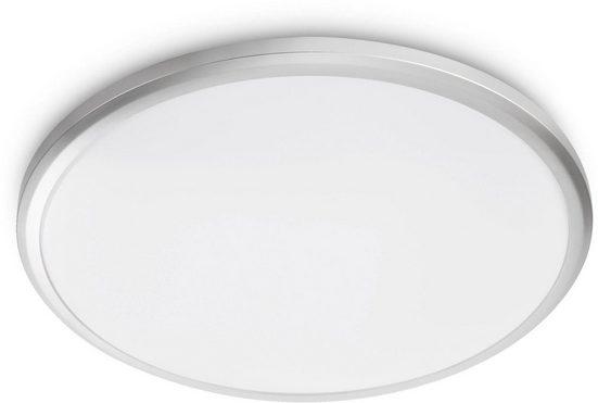 Philips LED Deckenleuchte »myLiving Twirly 2700K 1200lm, Grau«