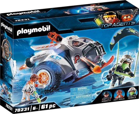 Playmobil® Konstruktions-Spielset »Spy Team Schneegleiter (70231), Top Agents«, (61 St), ; Made in Germany