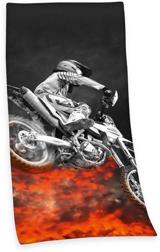 Herding Badetuch »Motocross« (1-St), mit tollem Motiv