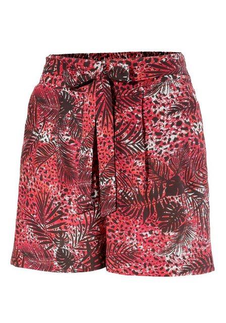 Hosen - Aniston CASUAL Shorts mit Streifen oder Tropical Print › rot  - Onlineshop OTTO