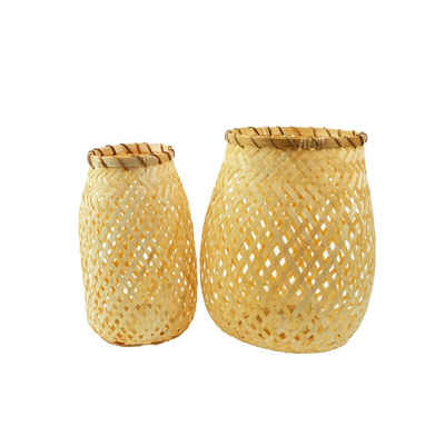 BOURGH Laterne »Bambus Laternen BORGATA (2 Stück) mit 2 Lichteinsä«