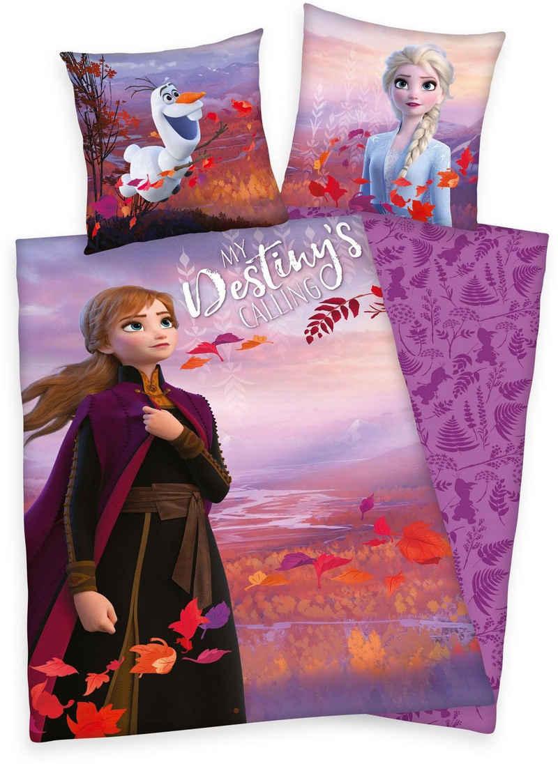 Kinderbettwäsche »Disney´s Eiskönigin 2«, Walt Disney, mit Anna, Elsa und Olaf