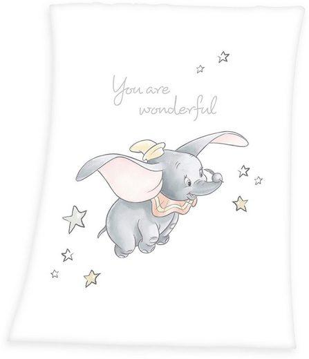 Babydecke »Dumbo«, Walt Disney, mit süßem Motiv
