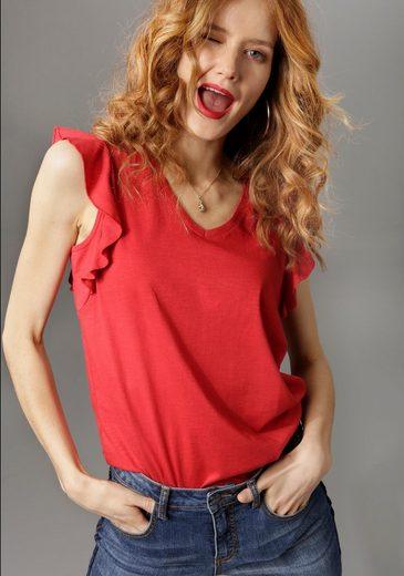 Aniston CASUAL T-Shirt mit Bindeband im Rücken