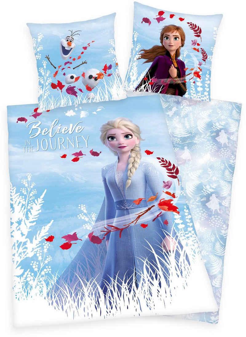 Kinderbettwäsche »Disney´s Eiskönigin 2«, Disney, mit Elsa, Anna und Olaf