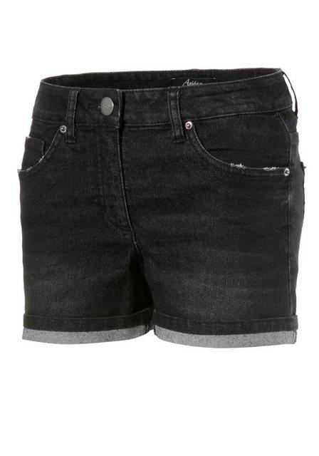 Hosen - Aniston CASUAL Jeansshorts mit leichten Abriebeffekte › schwarz  - Onlineshop OTTO
