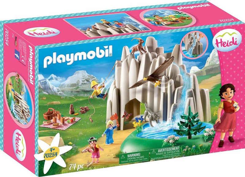 Playmobil® Konstruktions-Spielset »Am Kristallsee mit Heidi, Peter und Clara (70254), Heidi«, (74 St), Made in Germany