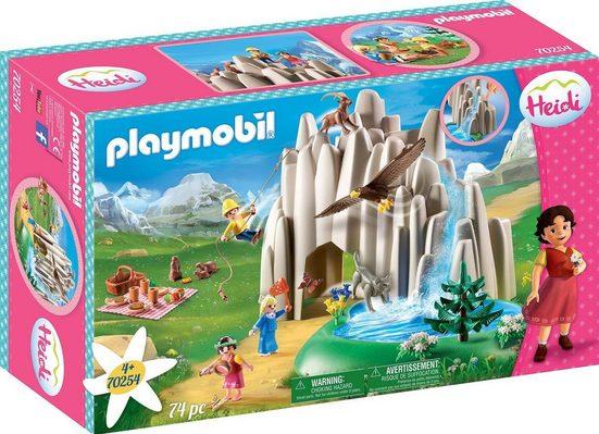 Playmobil® Konstruktions-Spielset »Am Kristallsee mit Heidi, Peter und Clara (70254), Heidi«, ; Made in Germany