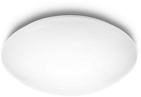 Philips LED Deckenleuchte »myLiving Suede 4000K 1100lm, Weiß«