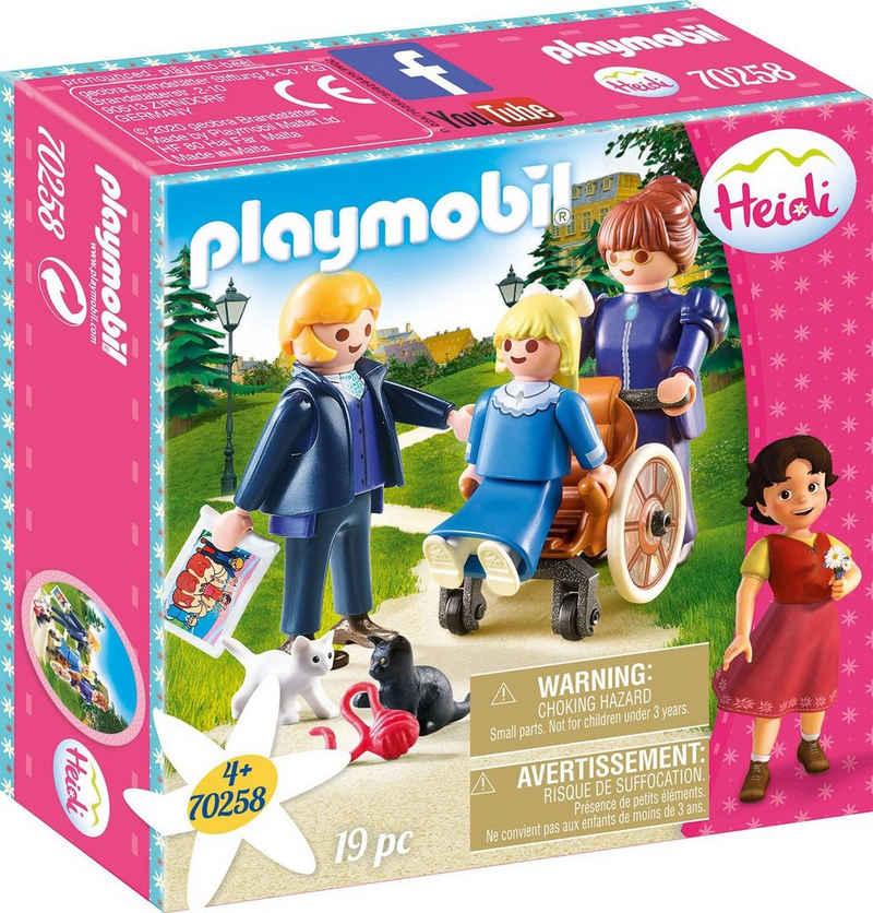 Playmobil® Konstruktions-Spielset »Clara mit Vater und Fräulein Rottenmeier (70258), Heidi«, (19 St), Made in Europe
