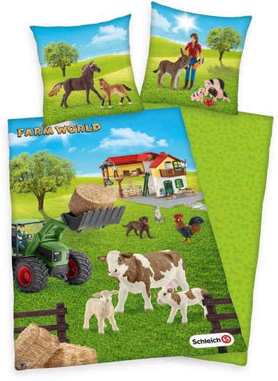 Kinderbettwäsche »Schleich Farm World«, Schleich®, mit süßen Tieren