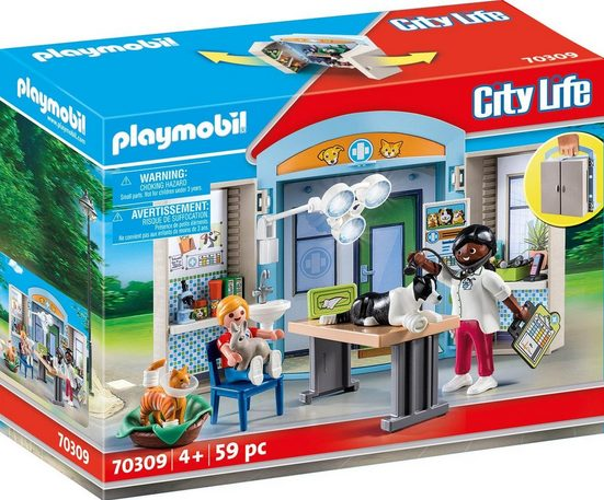 Playmobil® Konstruktions-Spielset »Beim Tierarzt (70309), City Life«, (59 St), ; Made in Germany