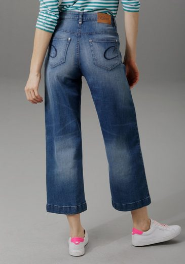 Aniston CASUAL 7/8-Jeans in Used-Waschung