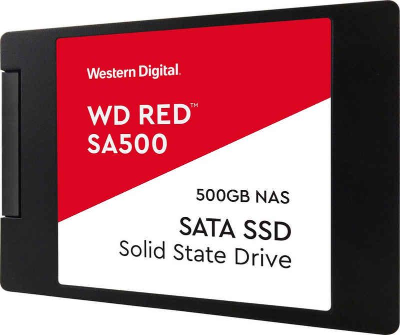 """Western Digital »Red SA500« SSD (500 GB) 2,5"""" 560 MB/S Lesegeschwindigkeit, 530 MB/S Schreibgeschwindigkeit)"""