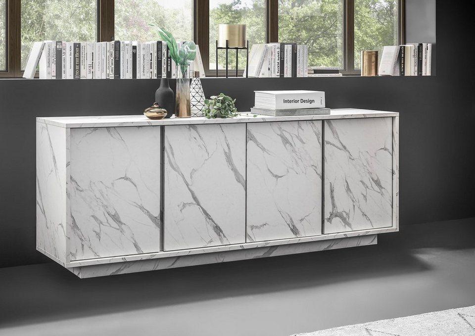 LC Sideboard »ICE«, grifflos, 4 Türen online kaufen | OTTO