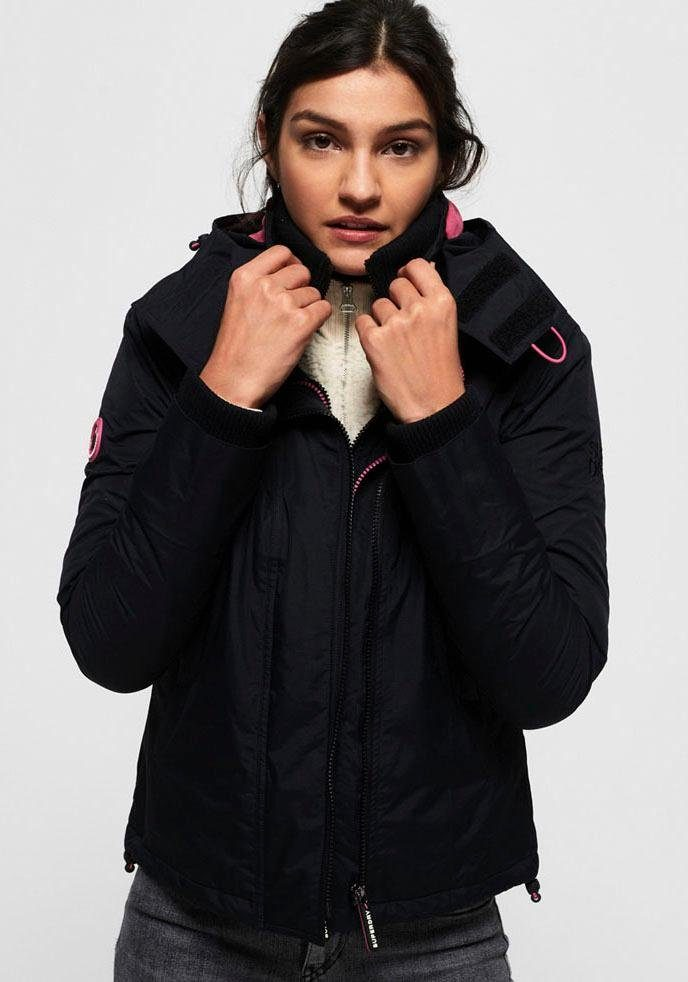 Superdry Windbreaker »ARCTIC HOODED POP ZIP WINDCHEATER« mit pinken Kontrastdetails online kaufen | OTTO
