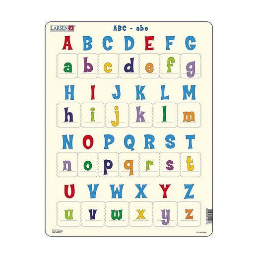 Larsen Puzzle »Rahmen-Puzzle, 26 Teile, 36x28 cm, ABC-abc«, Puzzleteile