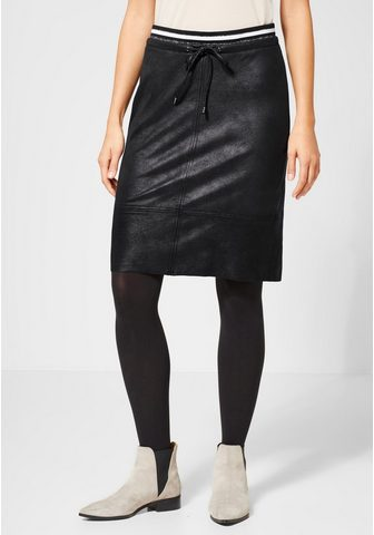 STREET ONE Dirbtinės odos sijonas