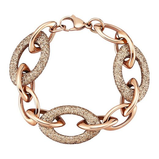 Jacques Lemans Armband »Edelstahl PVD rotvergoldet«