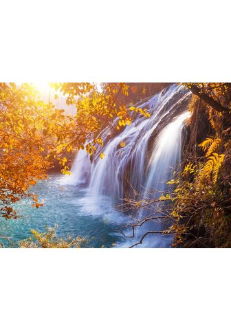 PAPERMOON fototapetas »Autumn Waterfal...
