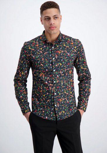 Schlussverkauf LINDBERGH Langarmhemd in weihnachtlichem Design