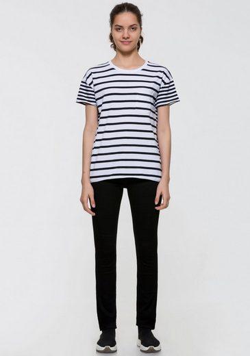 LTB T-Shirt »MAMIDI« mit Streifen & aufgesetzter Brusttasche
