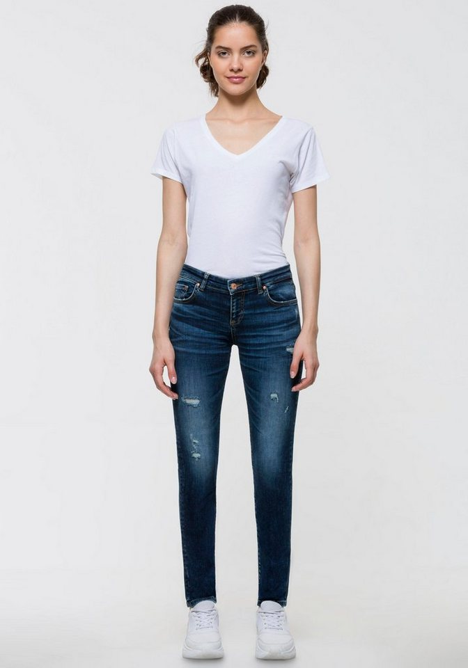 ltb -  Skinny-fit-Jeans »MINA« mit coolen Destroyed-Effekten