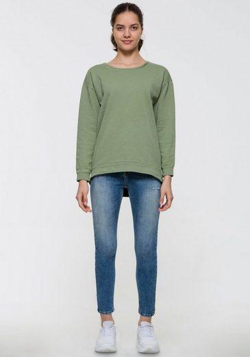 LTB Sweatshirt »CIMEBA« im Vokuhila-Schnitt
