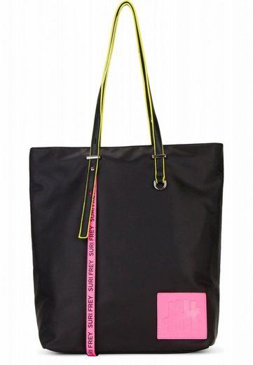 SURI FREY Shopper »SURI Black Label FIVE«, Logo Patch und Neon Details