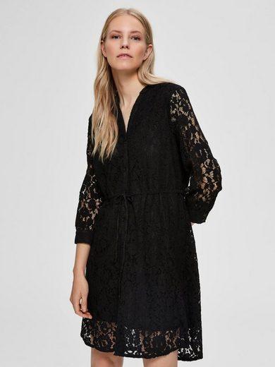 SELECTED FEMME Spitzen V-Ausschnitt Kleid