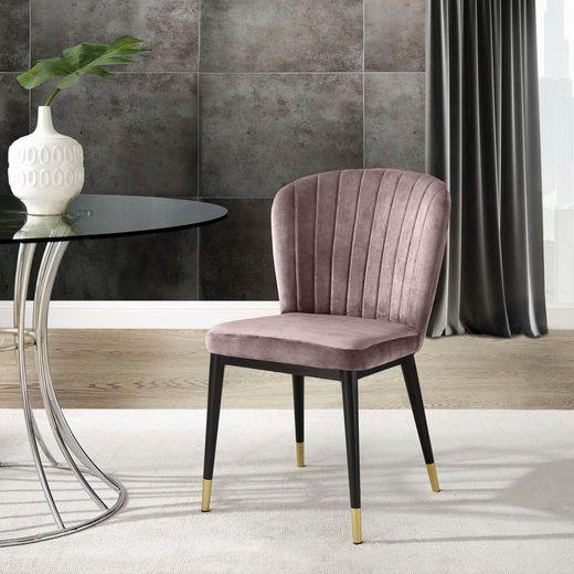 Leonique Esszimmerstuhl »Dinan« 2er-Set mit gepolstertem Sitz und Rückenlehne, modernes Design