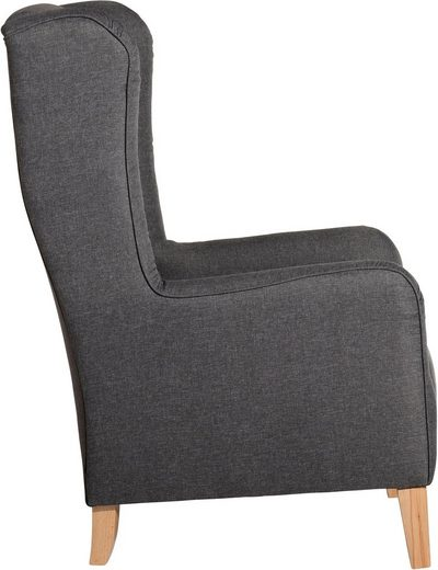 Max Winzer® Chesterfield-Sessel »Bob«  Hochlehnsessel mit Kederverzierung und Rückennaht