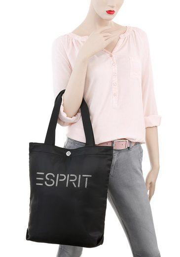 Esprit Shopper »Cleo Casual«  mit auffälligem Marken-Logo in Glitzer-Schrift