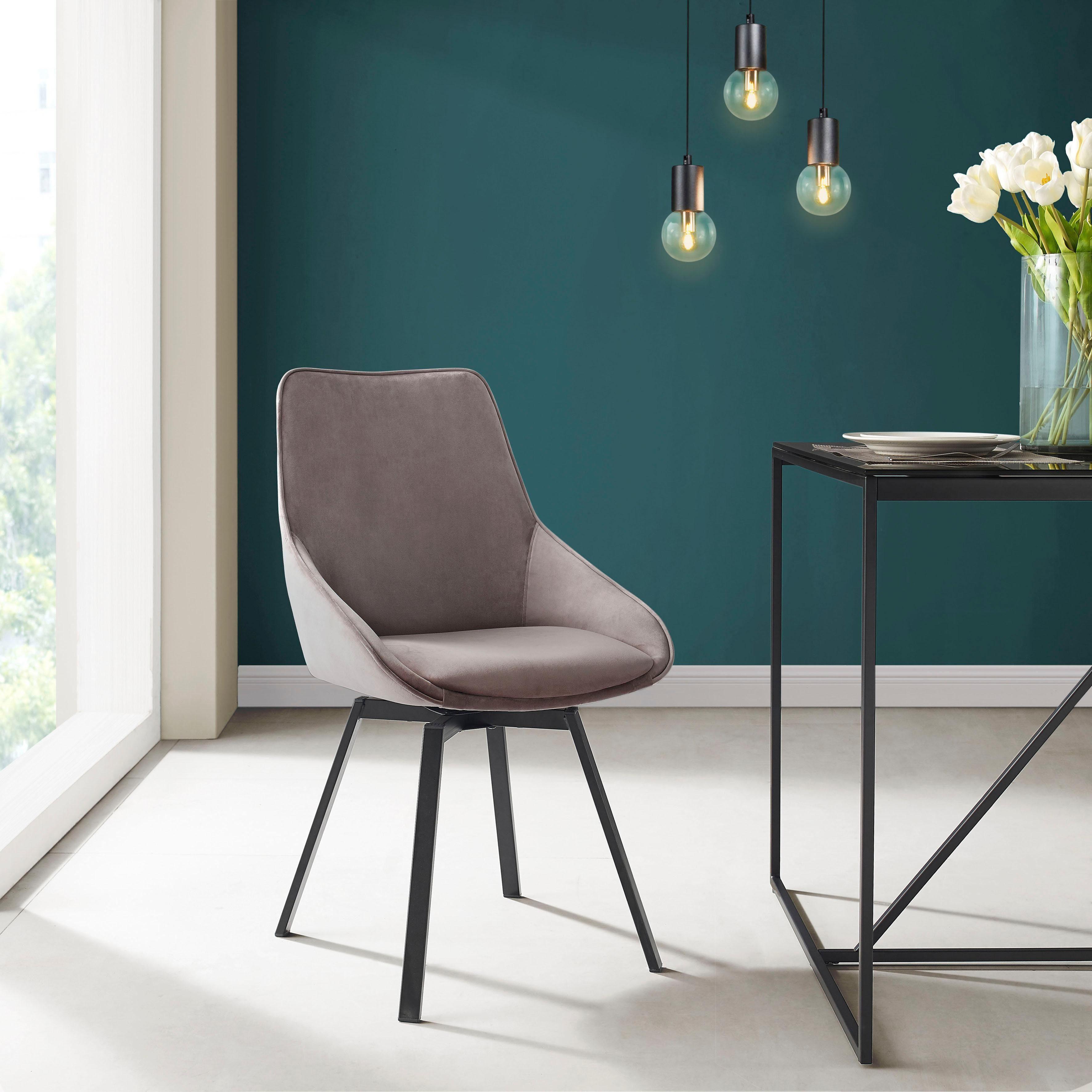 INOSIGN Esszimmerstuhl »Merisa« 2er Set mit gepolstertem Sitz und Rückenlehne, modernes Design, Drehbar online kaufen | OTTO