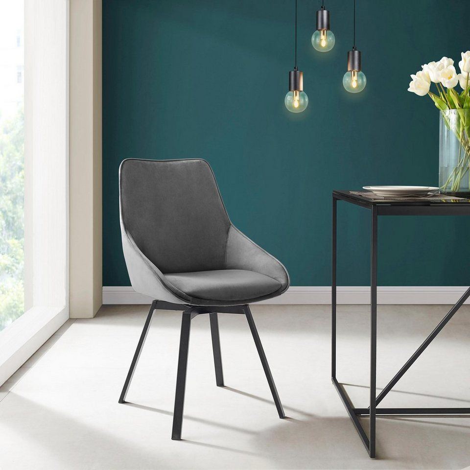 INOSIGN Esszimmerstuhl »Merisa« 2er Set mit gepolstertem Sitz und Rückenlehne, modernes Design ...