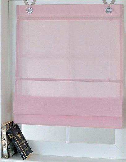 Raffrollo »Kessy Bessy«, Kutti, mit Hakenaufhängung, ohne Bohren, freihängend, mit Ösen, incl. Fensterhaken
