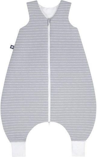 Julius Zöllner Babyschlafsack, mit Beinen Jersey Jumper Grey Stripes