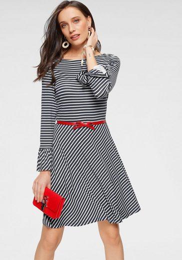 Laura Scott Jerseykleid mit verschiedenen Designs und Volantärmel
