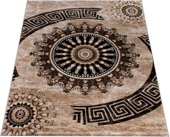 Teppich »Tibesti 447«, Paco Home, rechteckig, Höhe 16 mm, Kurzflor, Ornamente in dezenten Farbtöne, Wohnzimmer