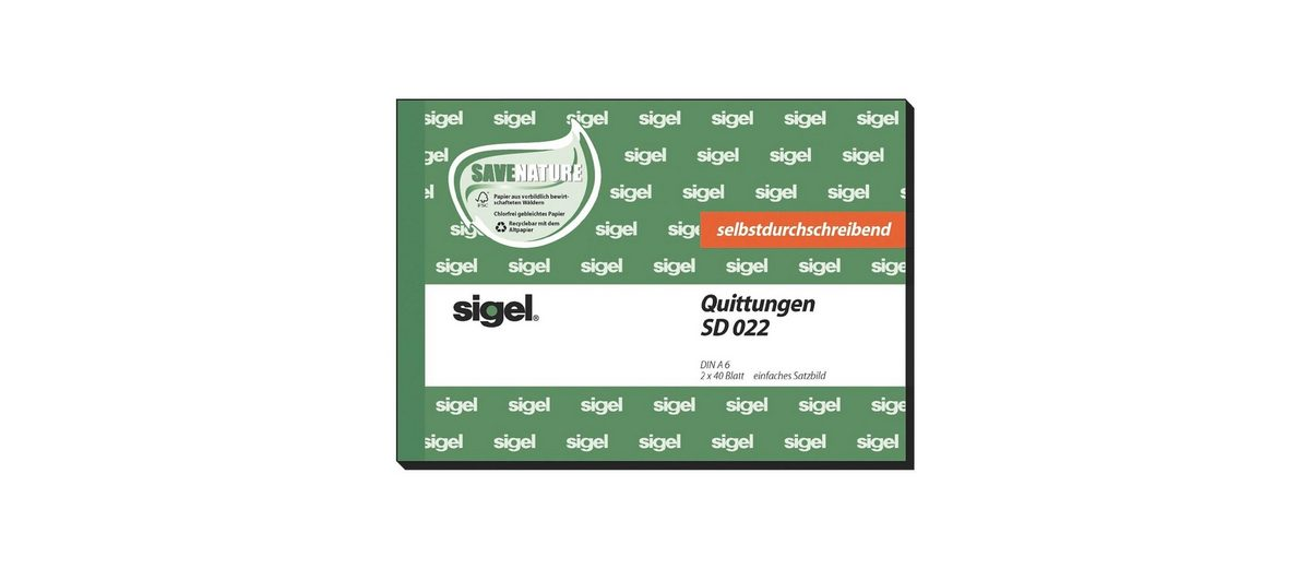 Sigel Formularbuch »Quittung inkl. MwSt.«