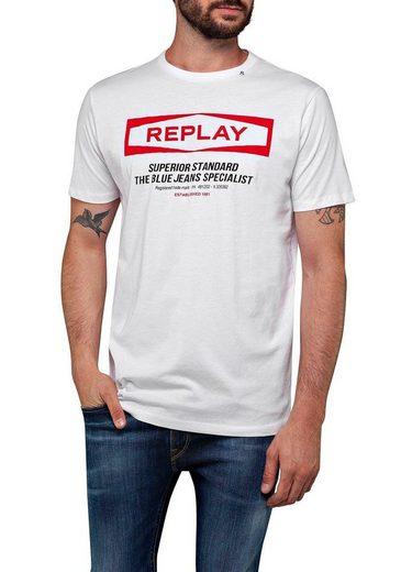 Replay T-Shirt mit Frontprint