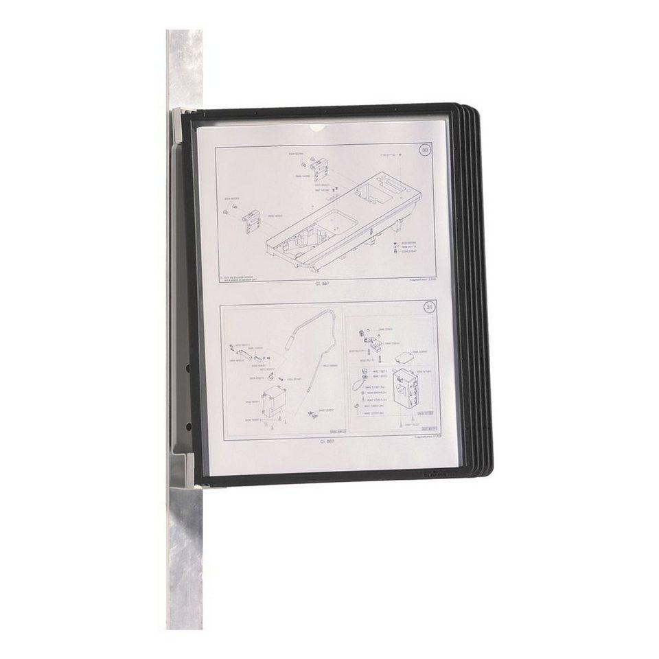 Durable Sichttafelwandhalter »Vario® Magnet Wall 5« in schwarz