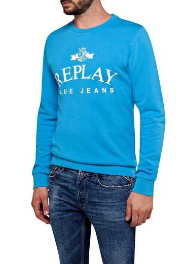 Replay Sweatshirt mit großem Frontprint