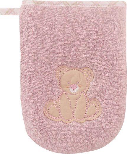 Vossen Waschlappen »Teddy« (2-tlg), mit niedlicher Stickerei