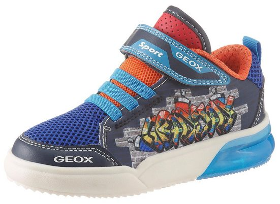 Geox Kids »Blinkschuh Grayjay Boy« Sneaker mit cooler Blinkfunktion