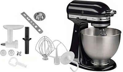 KitchenAid Küchenmaschine Classic 5K45SS EOB, 275 W, 4,3 l Schüssel, inkl. Sonderzubehör im Wert von ca. 112,-€ UVP. Farbe: onyx schwarz