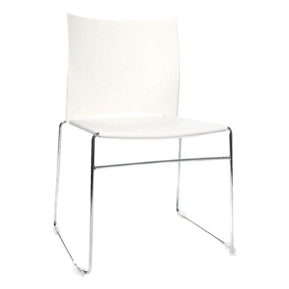 Topstar 4er-Set Besucherstühle »W-Chair« in weiß